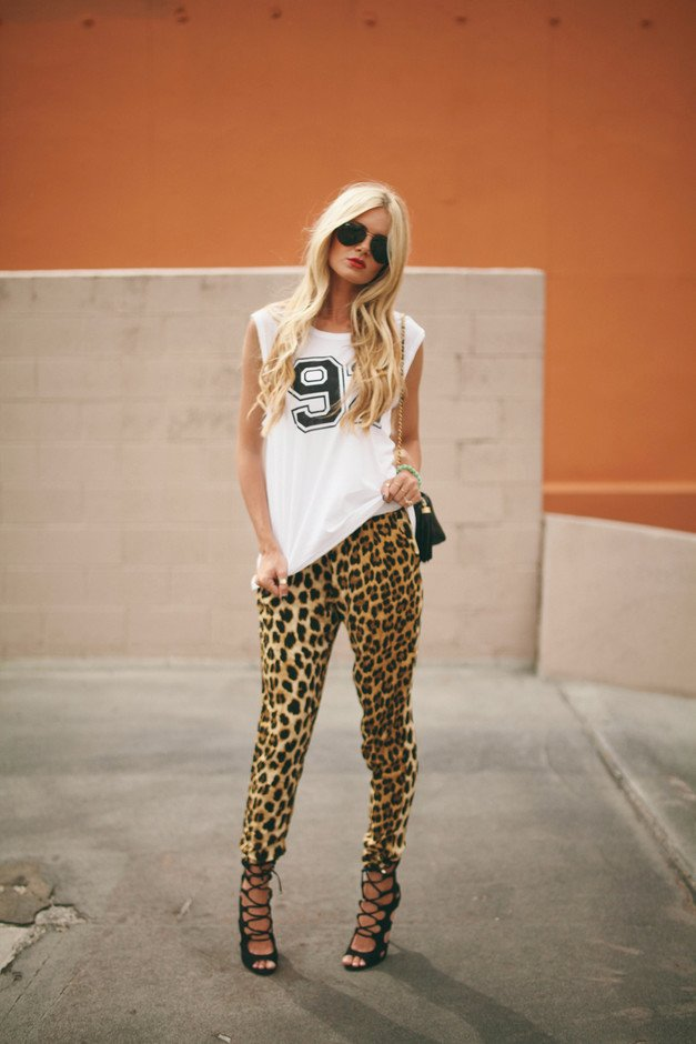 Leopard Printed Outfit Idea
