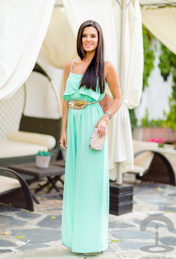 Light Green Jumpsuit for Date