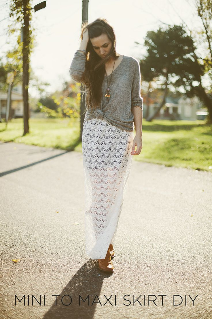10 DIY Projects for Your Summer Look: DIY Lace Skirts - Pretty Designs