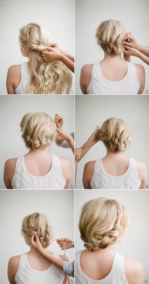 Loose Braided Crown Hairstyle Tutorial