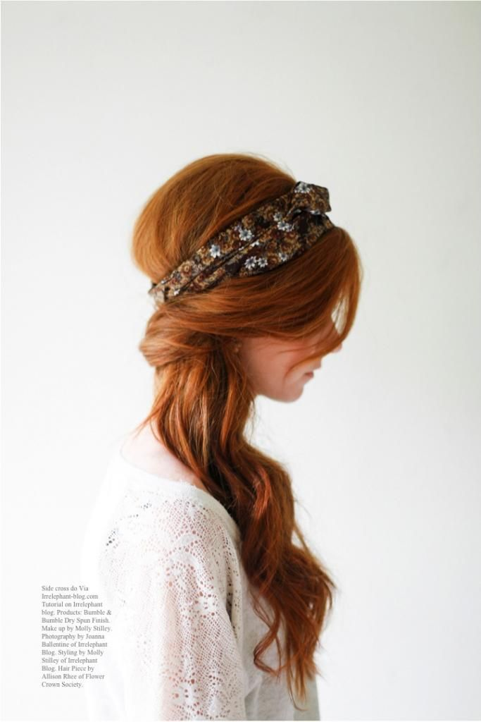 Loose Hairstyle with Flower Crown