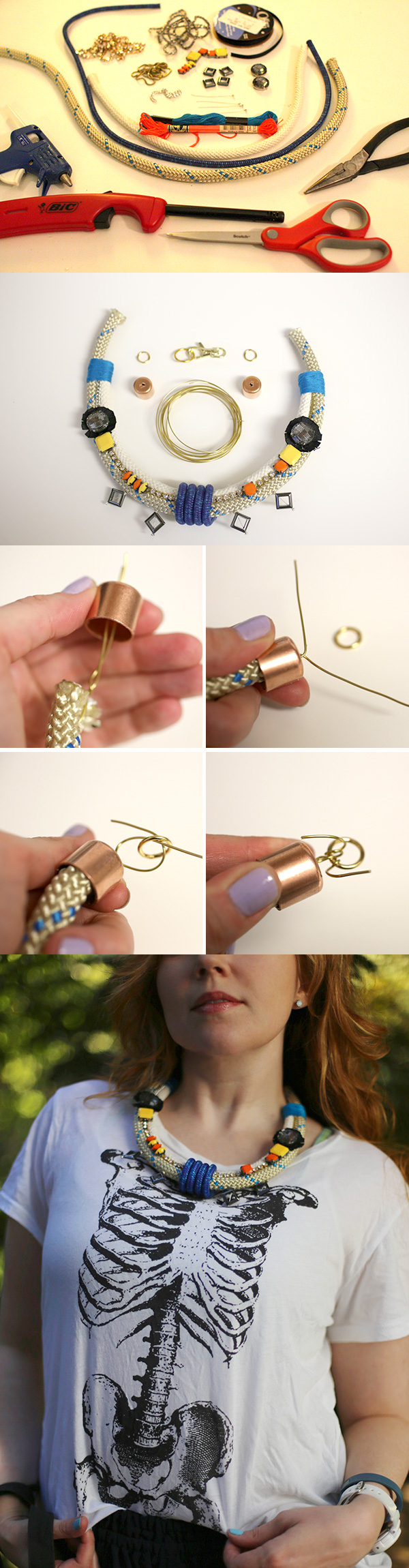 Lovely DIY Rope Necklace Tutorial