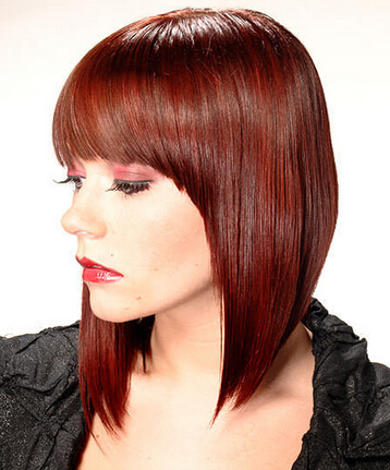Lovely Straight Haircut with Blunt Bangs