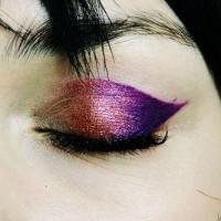 Metallic Ombre Eye Makeup