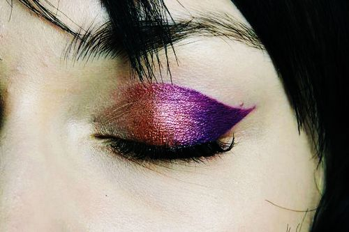 Metallic Ombre Eye Makeup