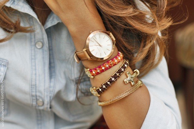 Multiple Bracelets with Watch