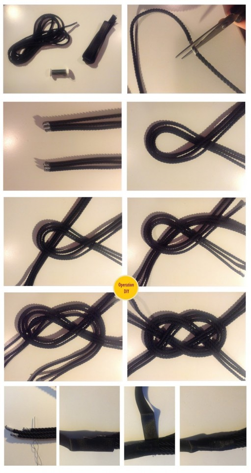 Navy Rope Necklace Tutorial