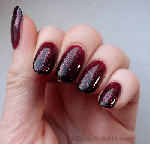 Ombre Burgundy Nail Design