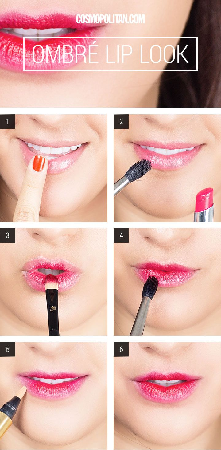 Ombre Makeup Lips Look