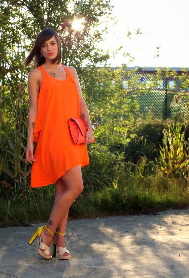 Orange Dress for Date