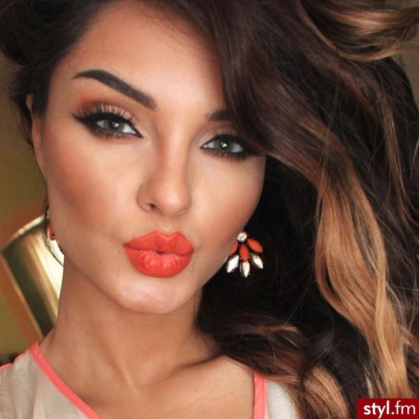 12 Overwhelming Orange Lip Makeup Ideas for 2014 - Pretty ... Brown Hair With Red Tips Tumblr