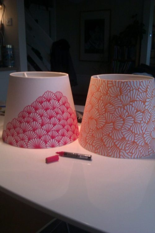 Do it yourself lampshade tutorials pretty designs painted lampshade mozeypictures Choice Image