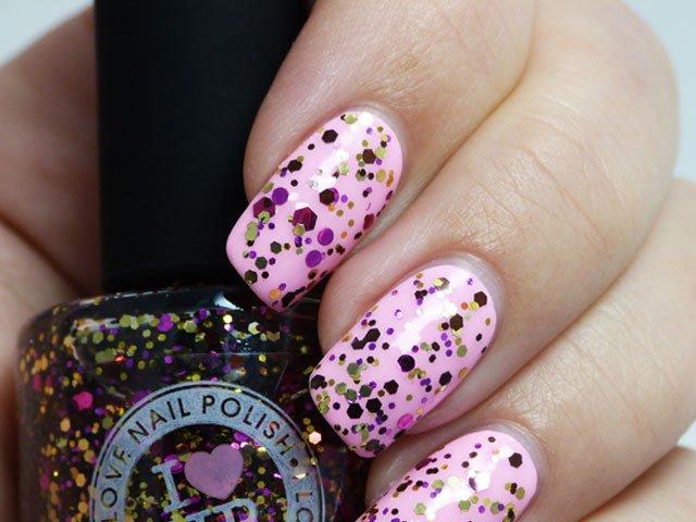 Pastel Pink Glitter Nail