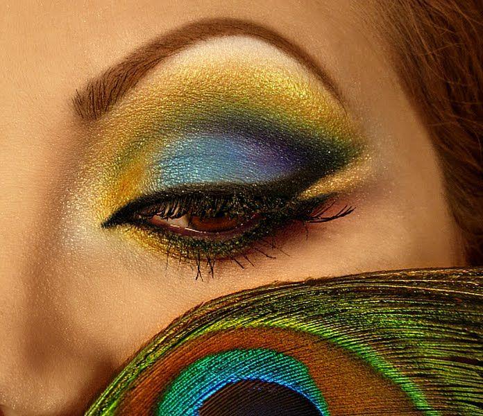 Peacock Inspired Eye Makeup Look