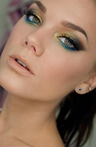 Peacock Inspired Eyeshadow