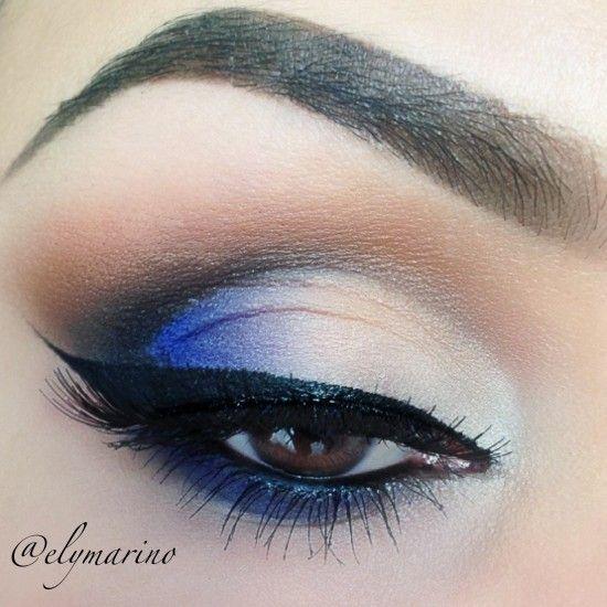 Peek-a-boo Blue Eye Makeup