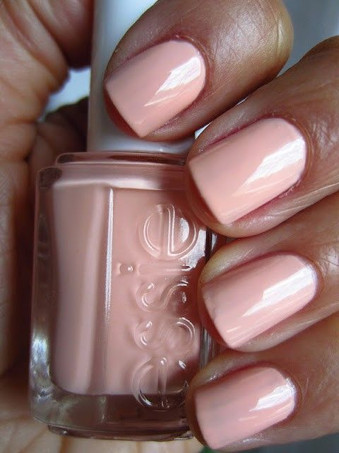 Perfect Peach Wedding Nail Design