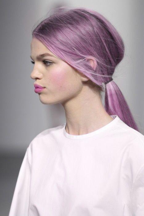 Pink Blush With Purple Hair