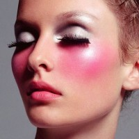 Pink Blush With Silver Eyeshadow