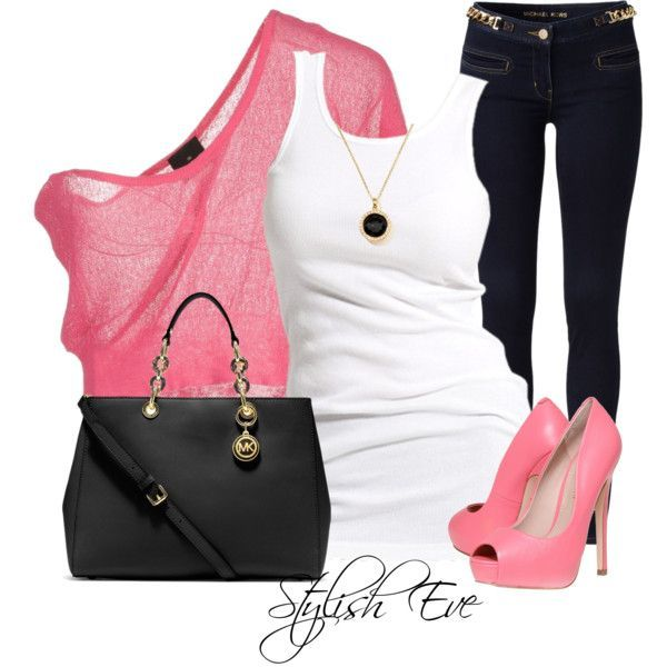 Pink Outfit Idea for Summer