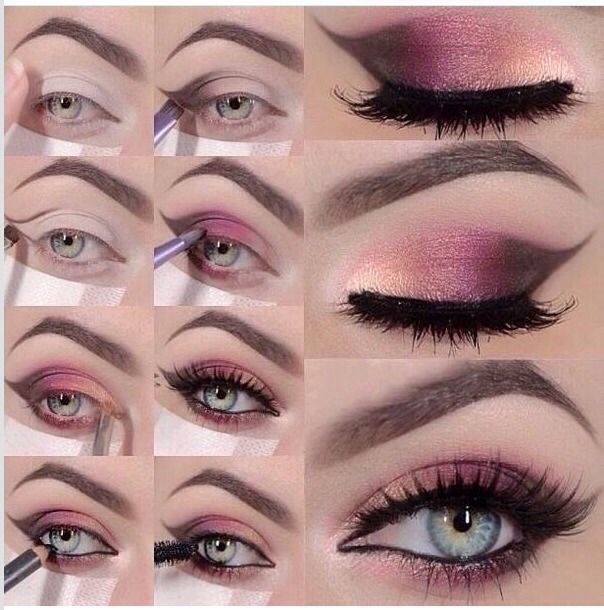 Pink Smokey Eye Makeup Step By