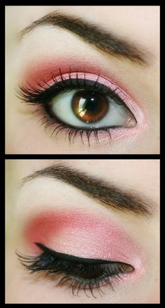Pink Smokey Eye Makeup for Brown Eyes