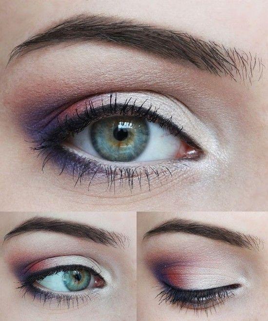 Pink, White and Purple Eye Makeup