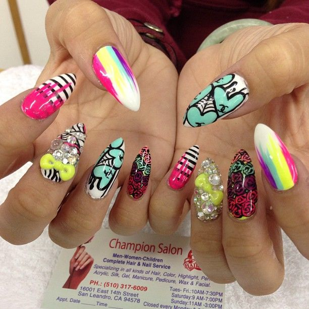 Colorful Nail Designs: 15 Colorful Nails For Summer