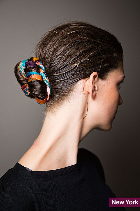 Spice Up Your Buns With A Scarf Pretty Designs