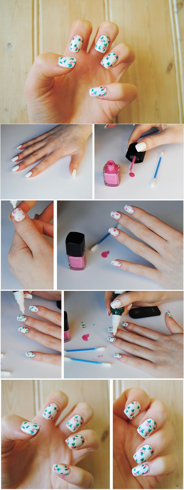 Pretty Floral Nails DIY