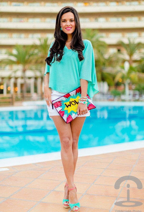 Pretty Outfit Idea with Wedges