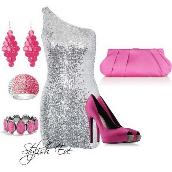 Pretty Pink Outfit Idea for Party