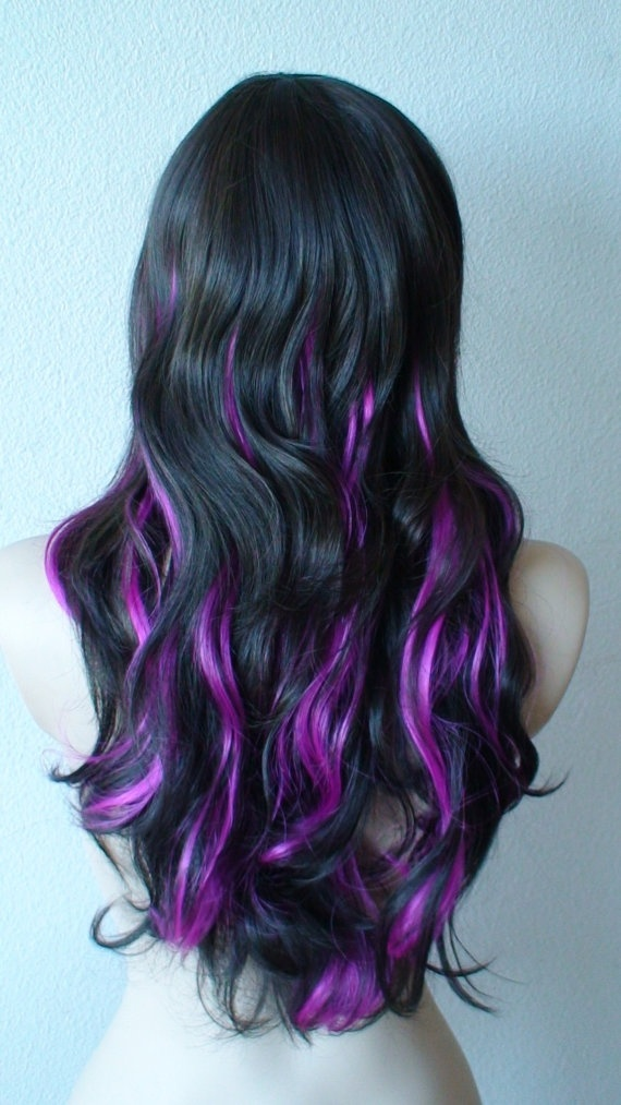 purple long hair to purple short hair, from purple curls to purple ...