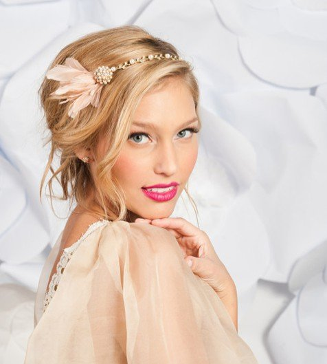 Pretty Wedding Hairstyle with Accessory