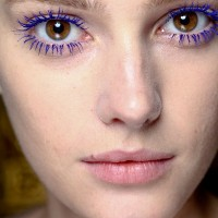 Purple Colored Mascara Look
