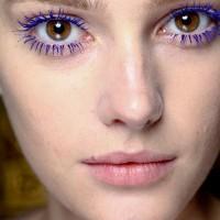 Purple Colored Mascara Look