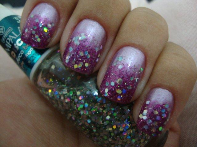 Purple Embellished Nails