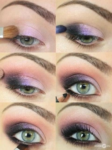 Purple Eye Makeup Tutorial for Blue Eyes