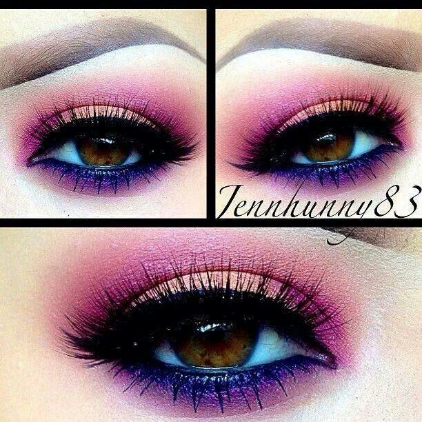 Purple Eye Makeup for Prom Look