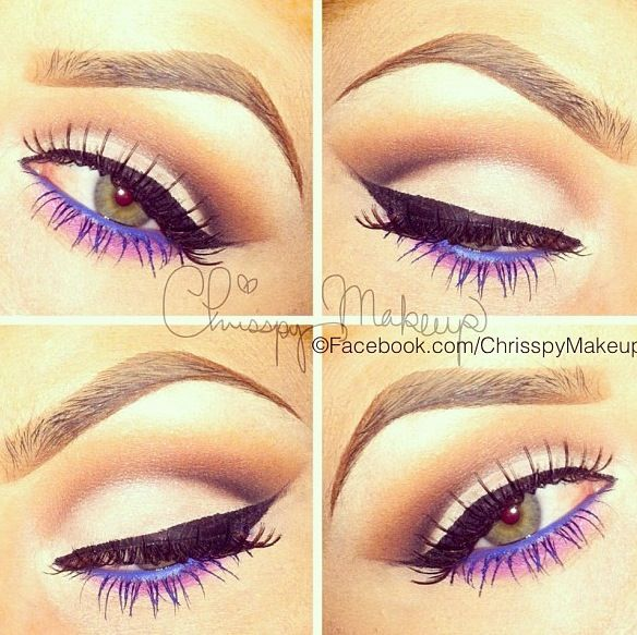Purple Eyeliner on Underlid