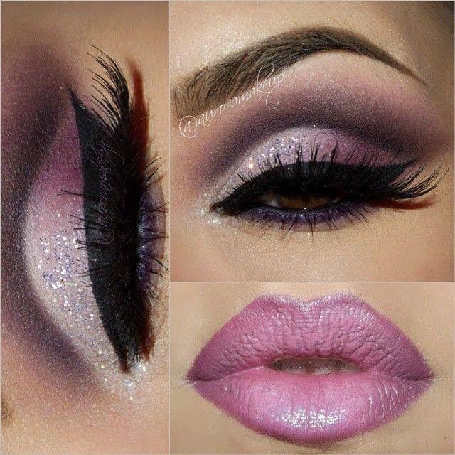 Purple Eyes and Lips