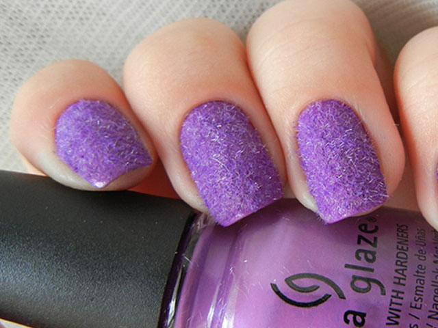 14 great nail art designs of all colors for girls pretty designs purple glitter nails prinsesfo Images