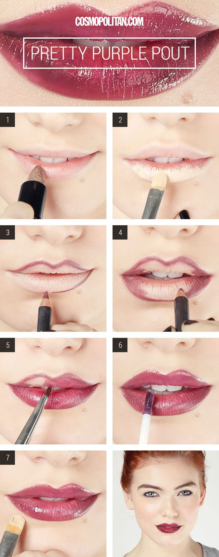 Purple Lips Makeup Tutorial