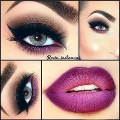 Purple Lips Makeup