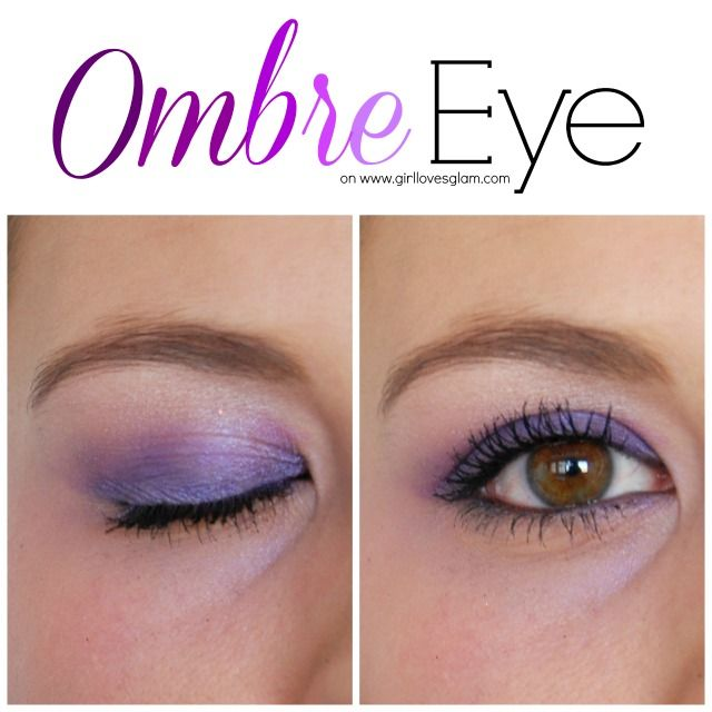 Purple Ombre Eye Makeup