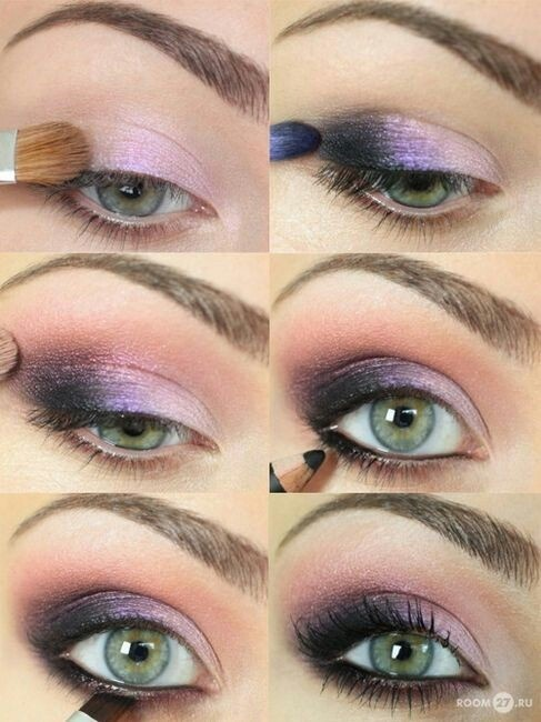Purple and Pink Smokey Eye Makeup