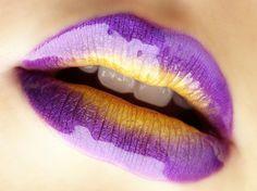 Purple and Yellow Lips