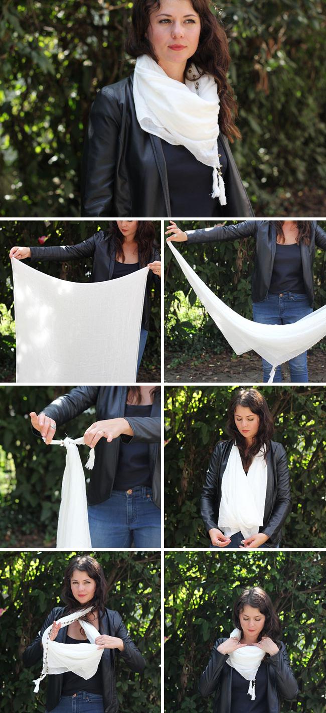 how to put scarf around neck