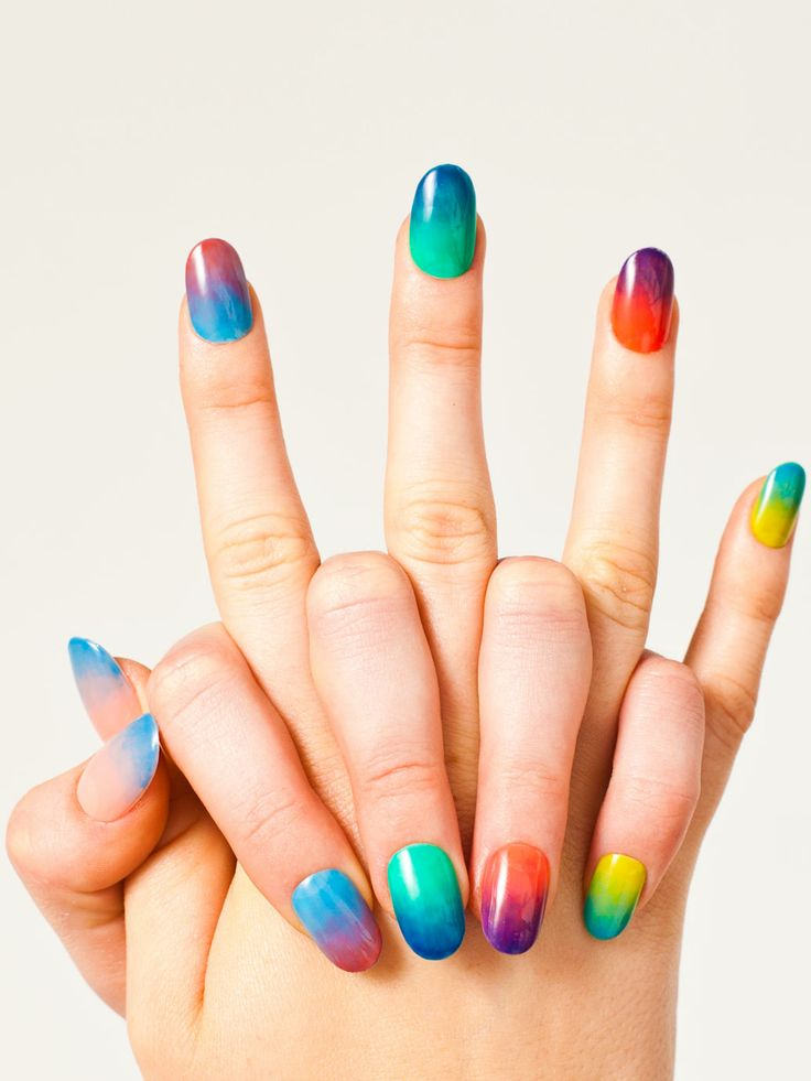 Rainbow-inspired Nails