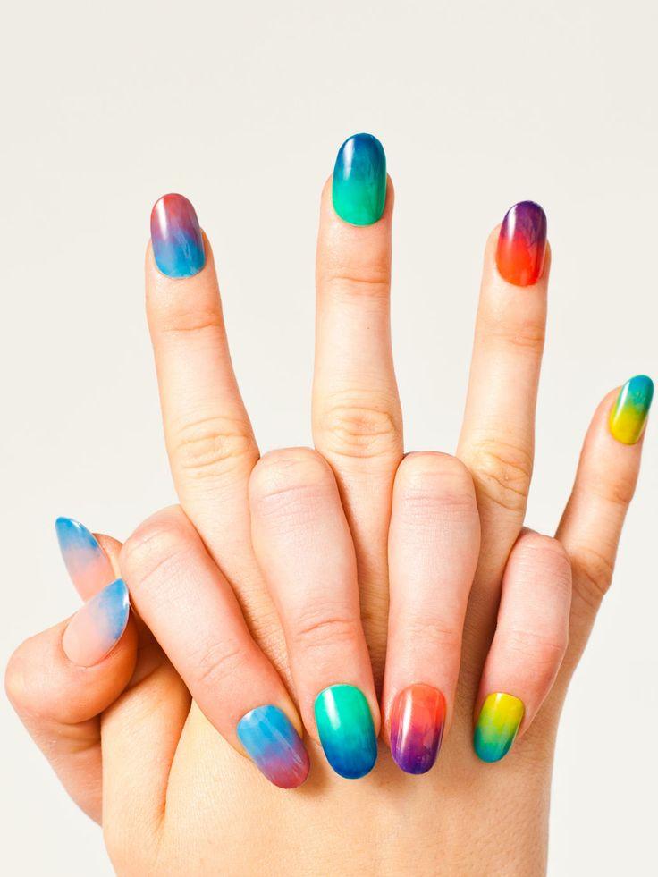 Rainbow-inspired Nails